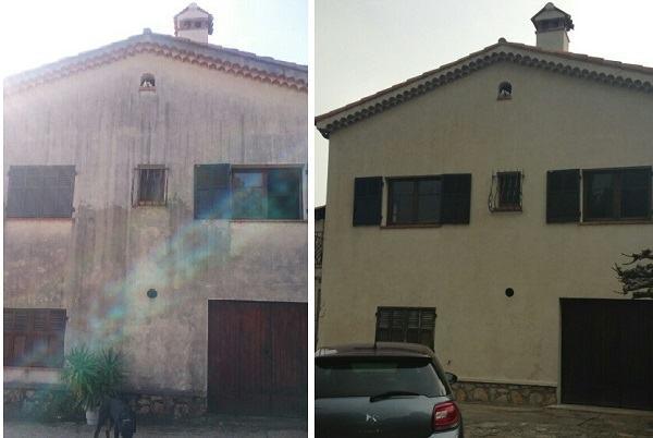 nettoyage de facade de villa antibes